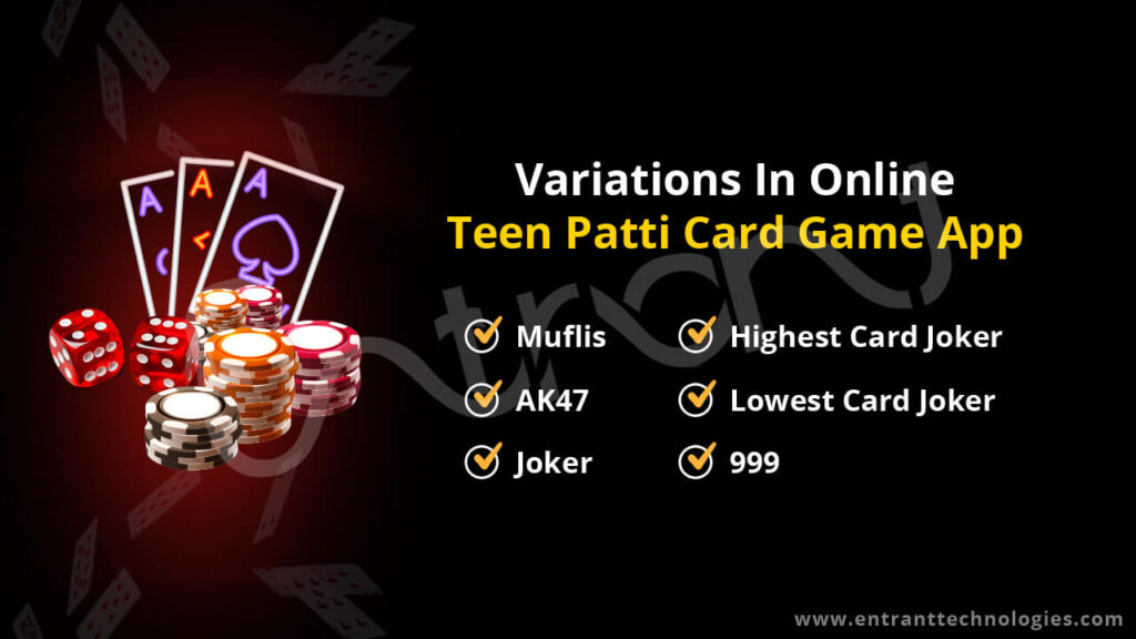 Variations in the Online Teen Patti Game App